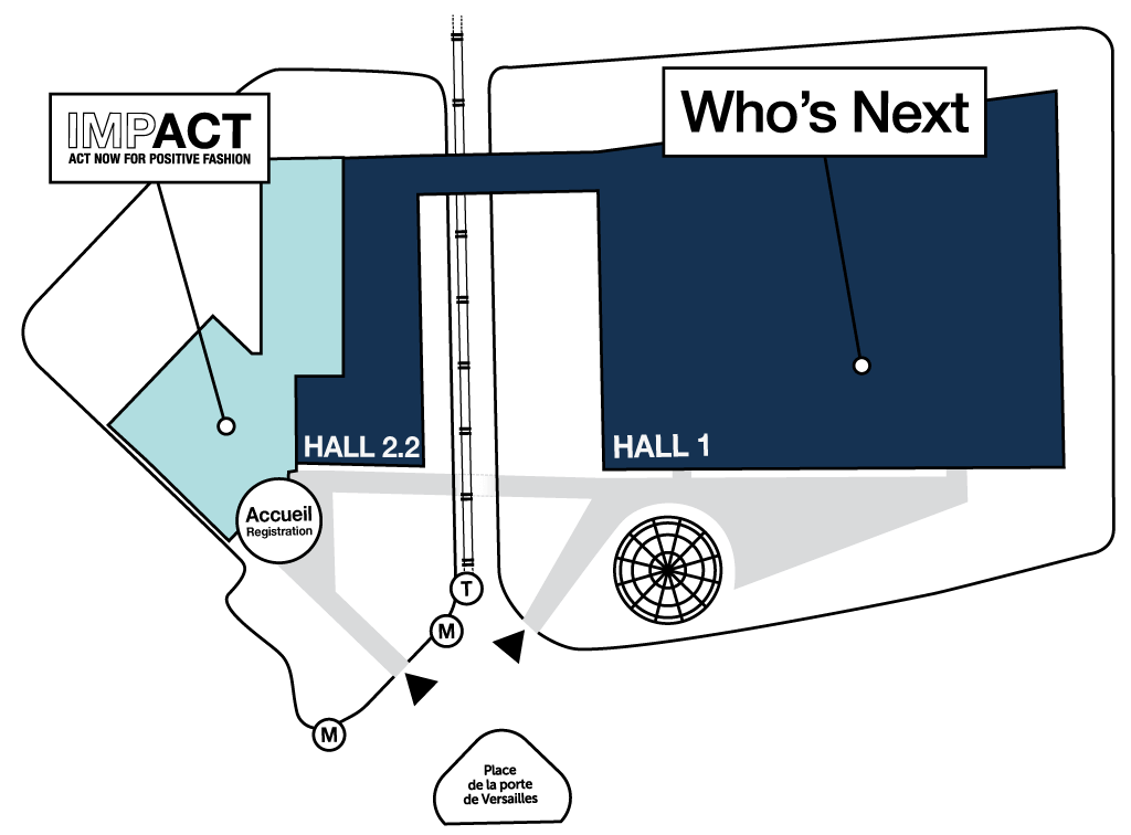 Map of the trade shows